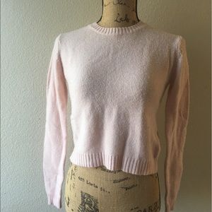 Brandy Melville baby pink cropped sweater